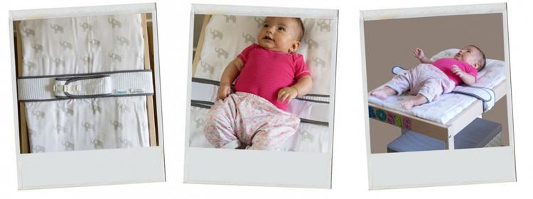 installez le bébé dans la ceinture à langer