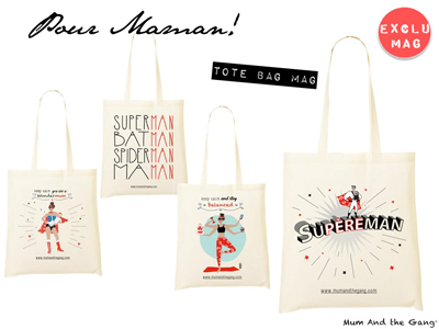 tote bag mum and the gang