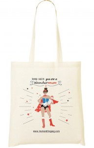 Tote bag Wondermum Mum And the Gang